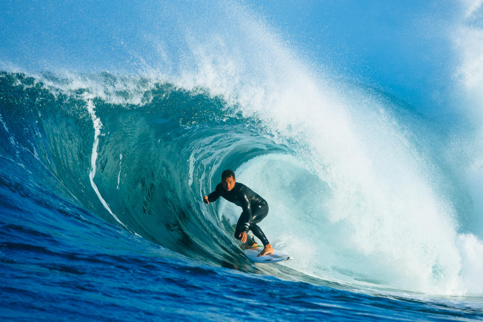 Michel Bourez impressionne en Australie (photo : WSL)