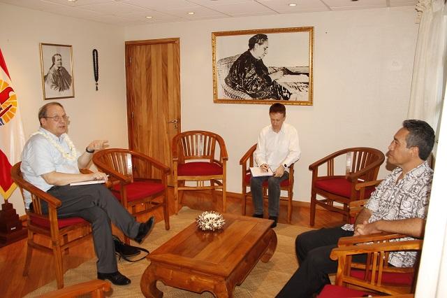 Marcel Tuihani a reçu Alain Christnacht, président du Civen
