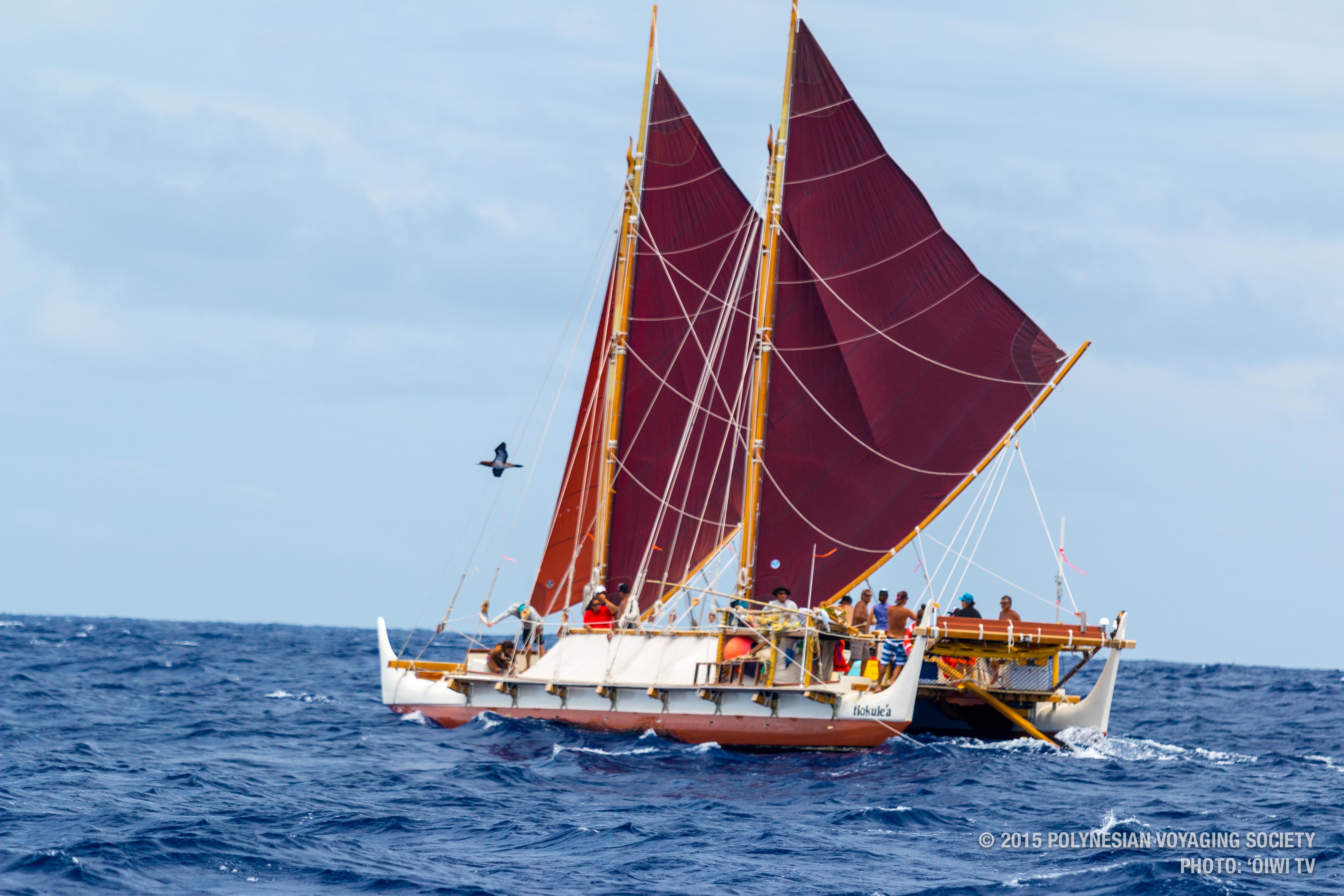 Après trois ans de voyage et près de 150 escales à travers le monde, la pirogue Hōkūle'a est attendu le 14 avril au matin en baie de Matavai.