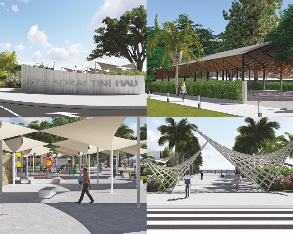 Parc paysager de Aorai Tini Hau: un ambitieux projet architectural