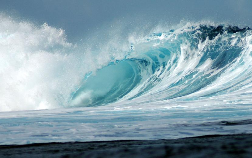 La vague de Teahopuu. Photo Pierre Lesage