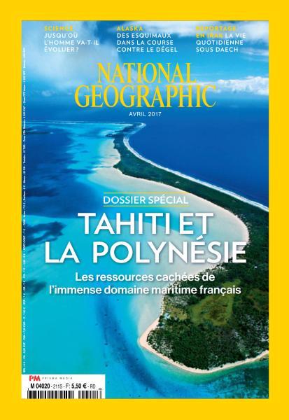 Tahiti en couverture du National Geographic d'avril