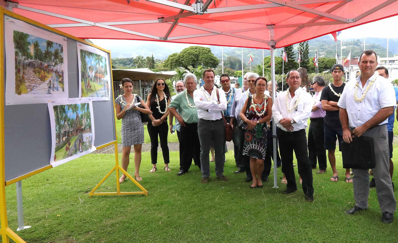 Présentation des projets d'aménagements de la ville de Papeete