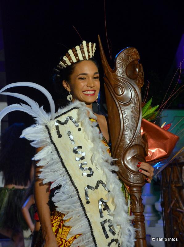 Leslie Timau est sacrée Miss Marquises 2017
