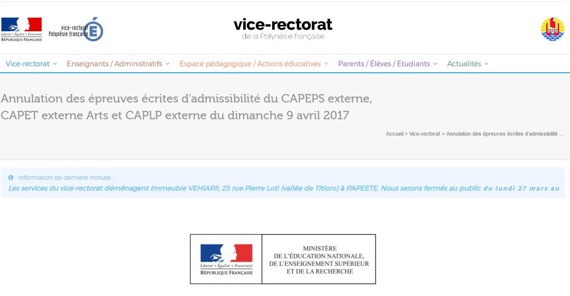Cyclone en N.-Calédonie : les épreuves d'admissibilité des certificats d'aptitude à l'enseignement annulées à Tahiti