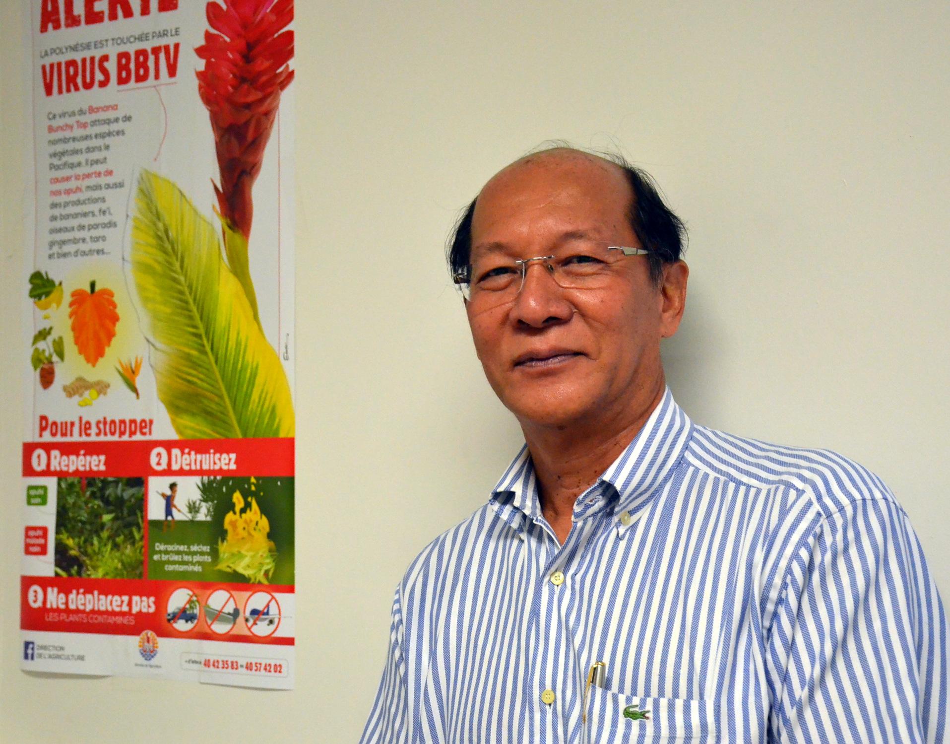 Djeen Cheou, ingénieur phytosanitaire au département de la protection des végétaux.