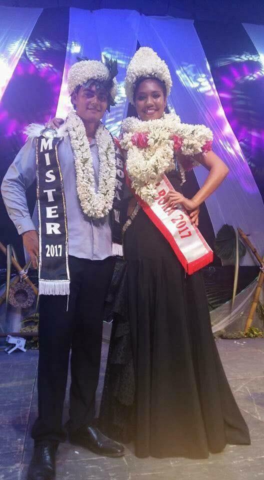 Hitirani Bardet et Raimanu Teara ont été élus Miss et Mister Bora Bora 2017.