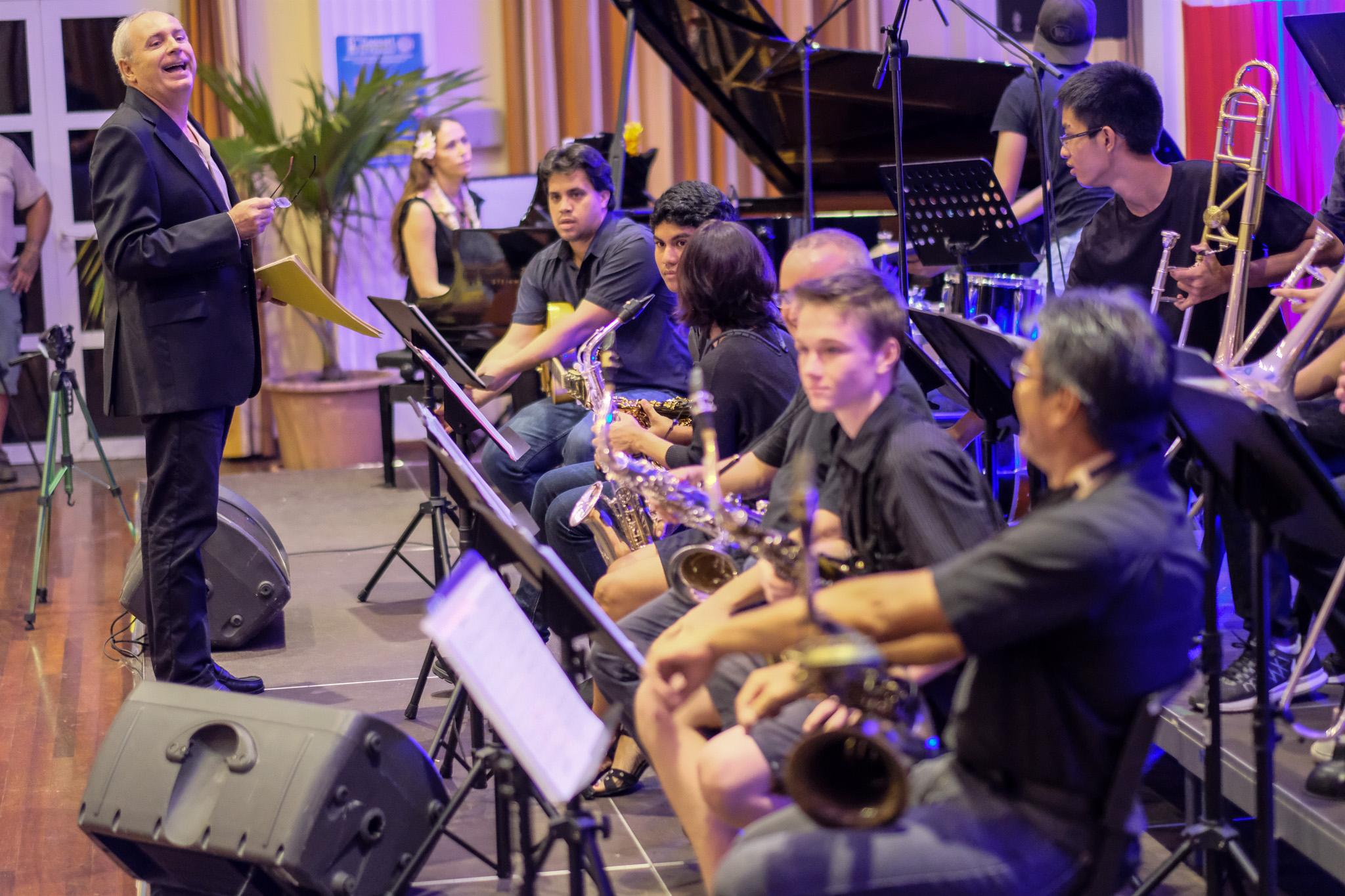 Le Big Band du Conservatoire est dirigé avec maestria par Fred Rossoni. (Photo : Stéphane Sayeb/CAPF)