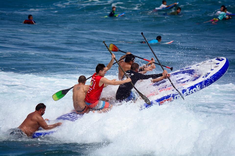 Course de paddle géant (photo Mistral SUP)