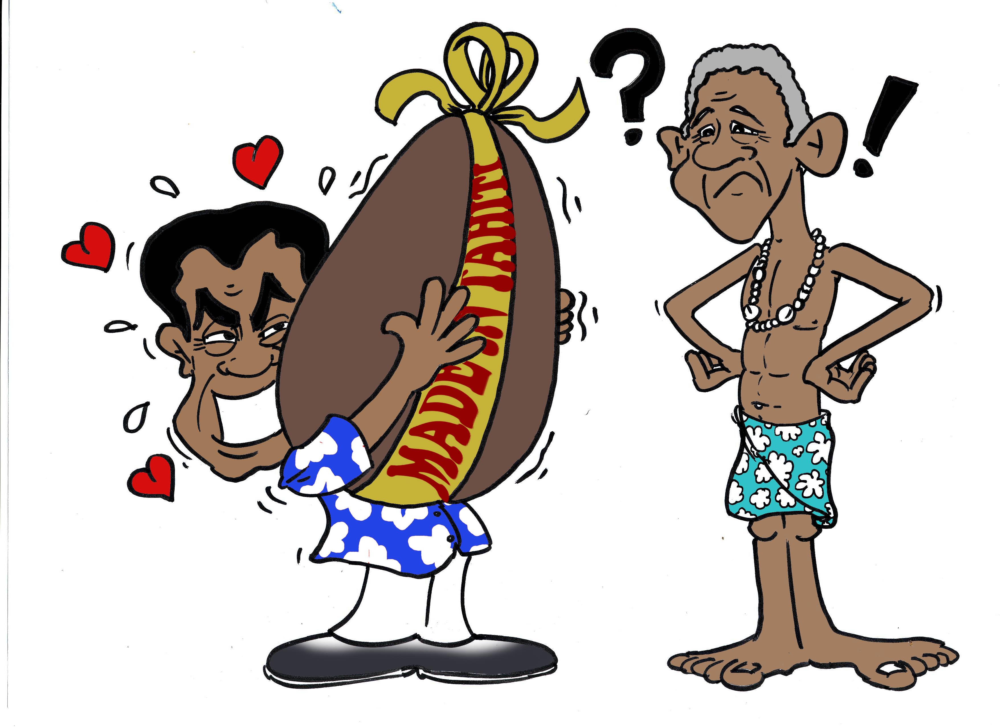 """"""" L'oeuf d'Obama """" par Munoz"""