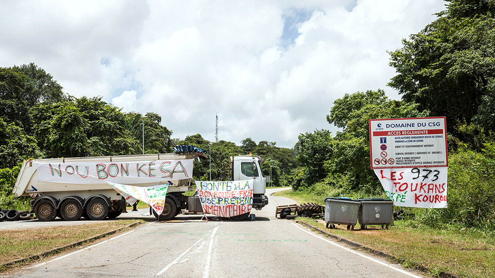 Guyane: l'accès au centre spatial de Kourou débloqué (centre spatial)