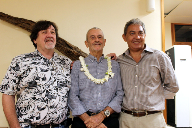Yves Laugrost - président sortant-, Ronald Blaise- nouveua président- et Régis Chang- directeur sortant de la CPS