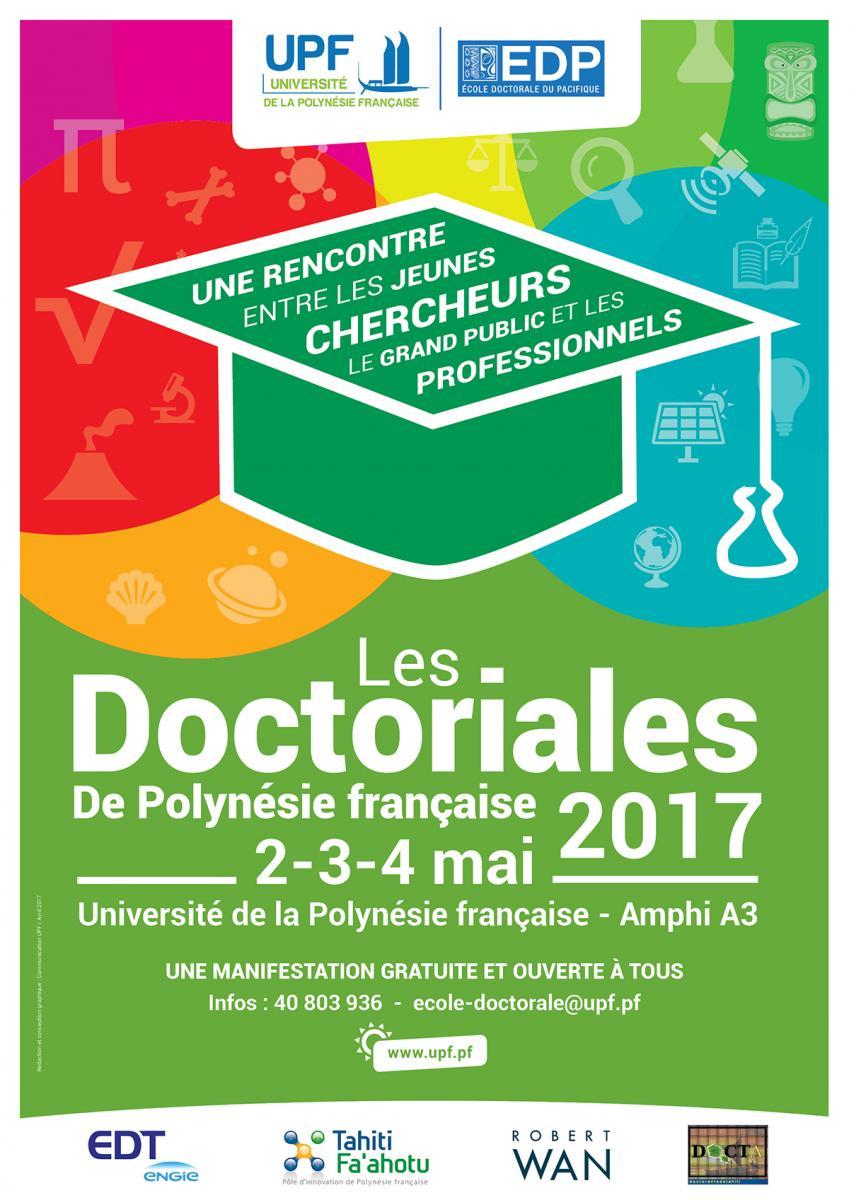 En 2017 les Doctoriales s'ouvrent à tous les doctorants de Polynésie