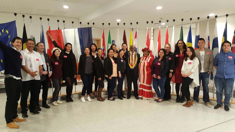 Les étudiants polynésiens à la rencontre des institutions européennes