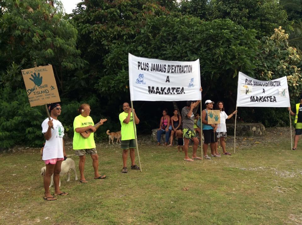 Début avril, des habitants de Makatea avaient manifesté lors de la venue du P-dg de la Société Avenir Makatea.