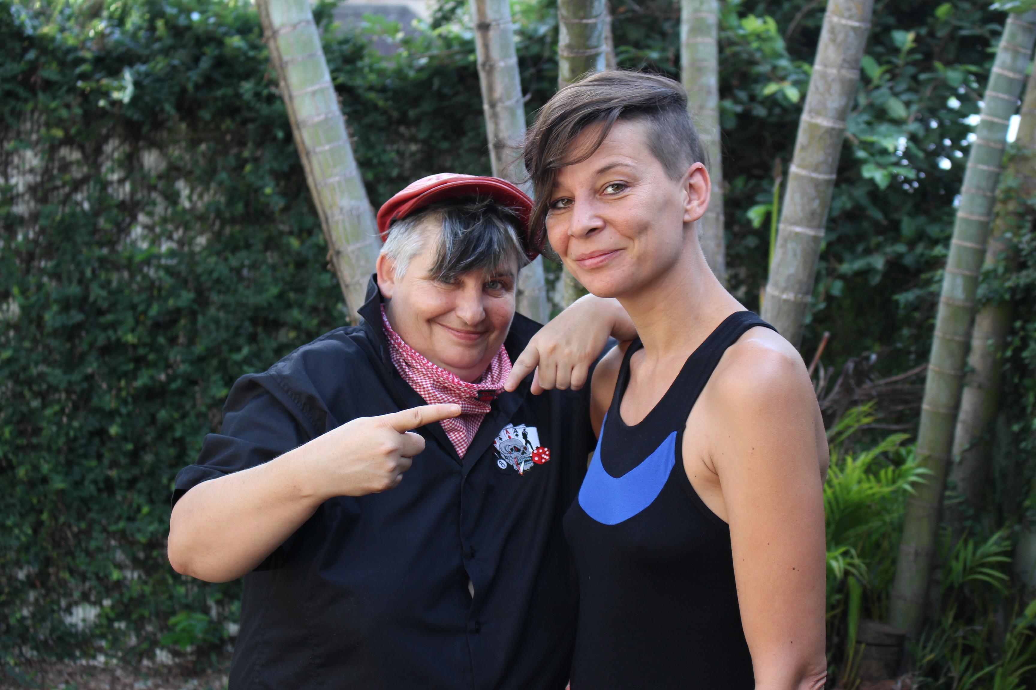 Grib (à gauche) et Laet de King's Queer.
