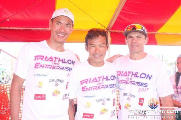 Le triathlon gagnant en catégories entreprises