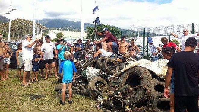 La Marina de Arue organise son deuxième Clean Up day du port