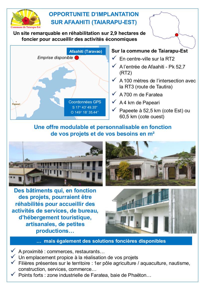 Un appel à projets pour le site de l'ancien fort de Taravao
