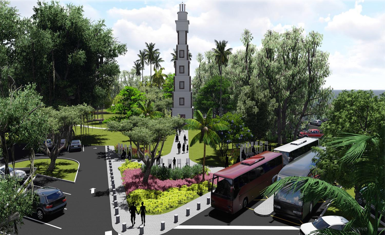 Une esplanade de 500 m²  sera réalisée afin de mettre en valeur le phare de la pointe Vénus.