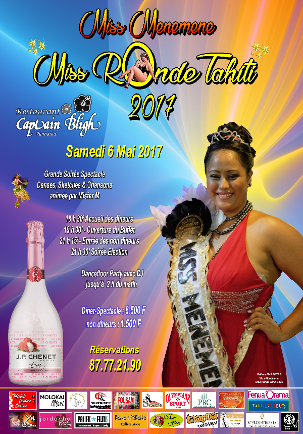 "Miss Menemene - ""Miss Ronde Tahiti"" 2017 : découvrez les 14 candidates"