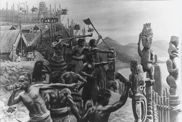 Après la prise de possession de la Nouvelle-Zélande, des guerres sanglantes opposèrent les Maoris entre eux et les Maoris aux Anglais. Ce climat de violence obligea de Thierry à quitter ses terres et donc son royaume.