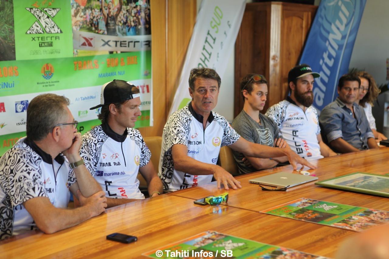 Jean Michel Monot est également le président de la fédération tahitienne de triathlon