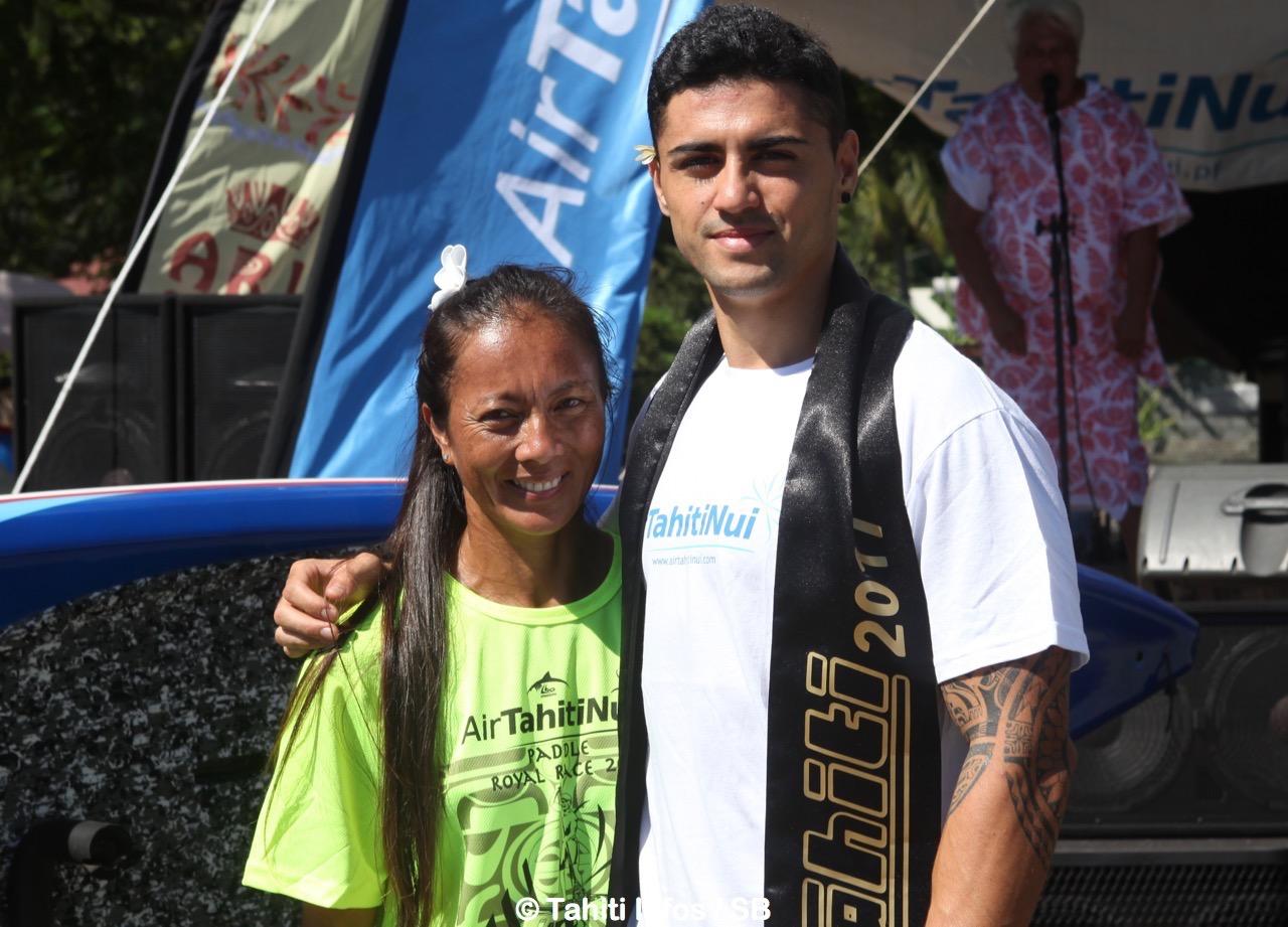 Maeva Hargrave avec Mister Tahiti 2017