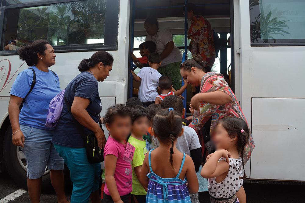 Les élèves de l'est de Papeete en exercice d'évacuation tsunami