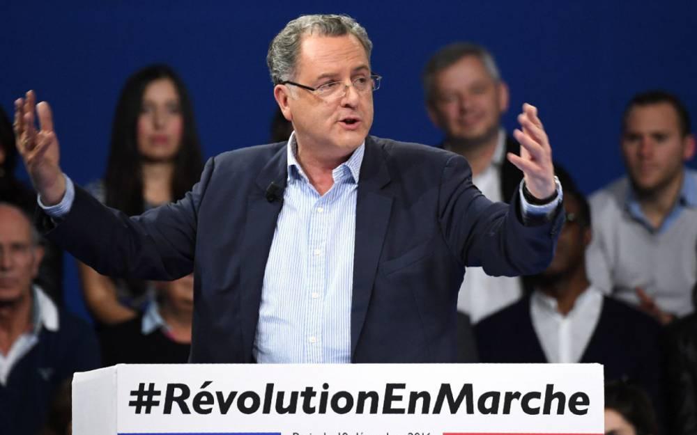Le député du Finistère Richard Ferrand lors d'un meeting d'En Marche!, le 10 décembre à Paris (AFP/Eric FEFERBERG)