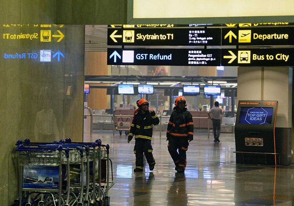 Incendie à l'aéroport de Singapour : des vols retardés