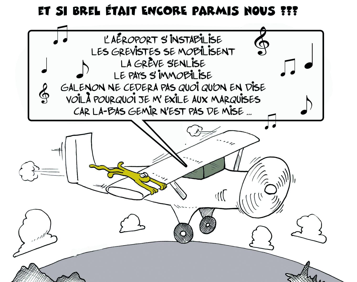 """"""" La grève s'enlise """" par Munoz"""