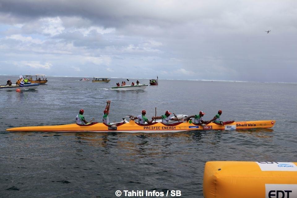 Shell Va'a remporte la première étape de la Tahiti Nui Va'a