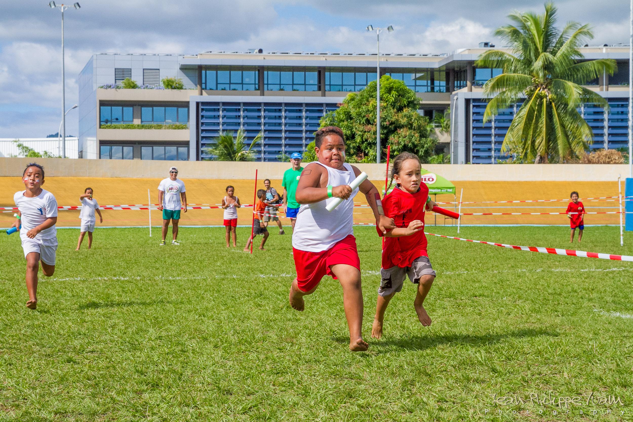 Plus de 220 enfants sont attendus ce vendredi à partir de 7h15 au stade de Mahina.