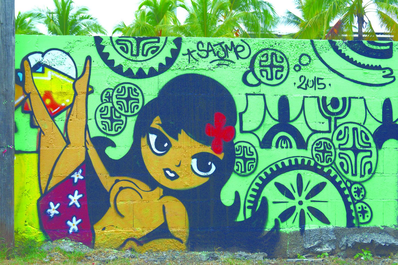 Le street art connaît une évolution fulgurante en Polynésie depuis un peu plus d'une décennie. (Sajme)