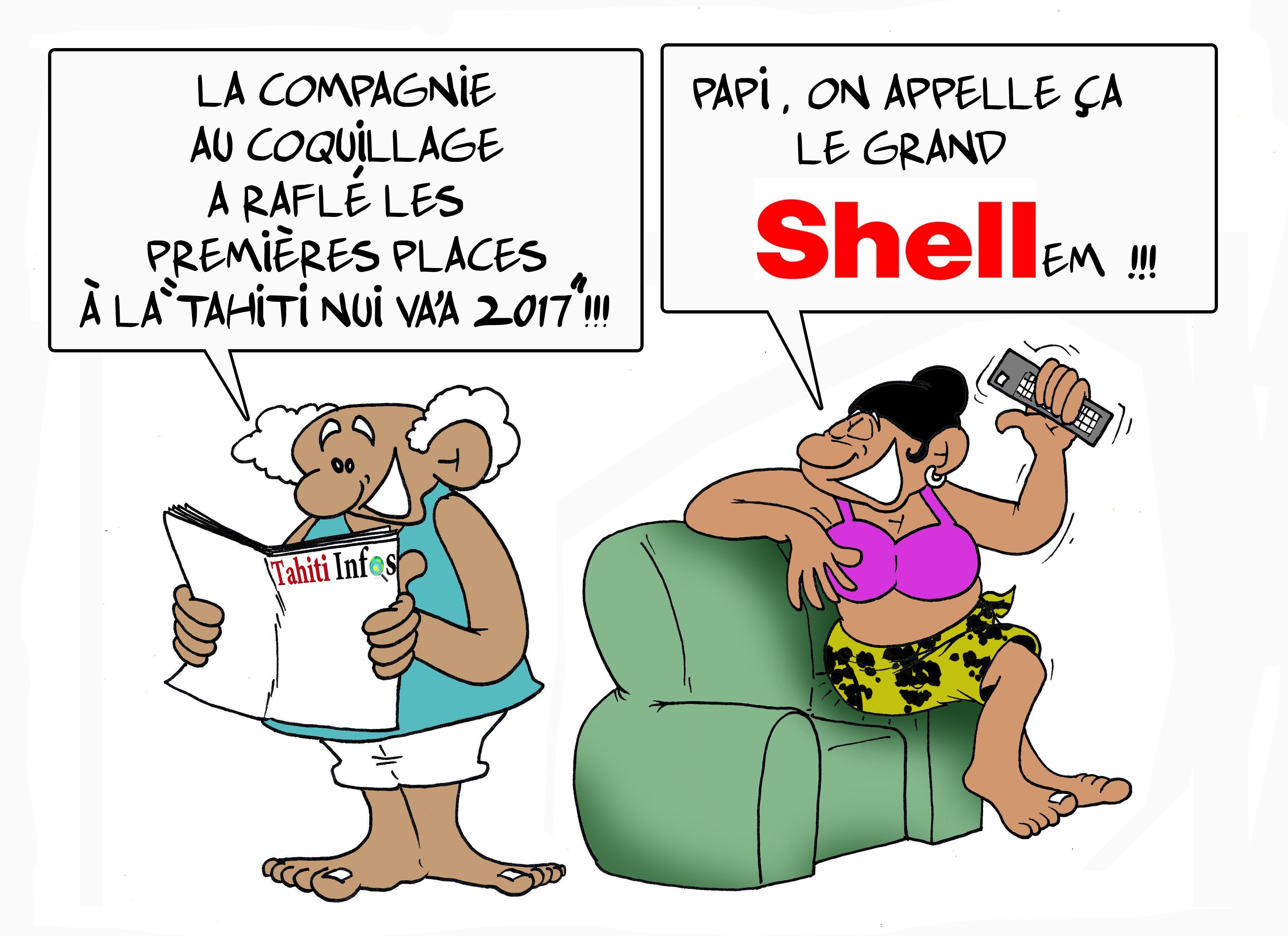 """ Tahiti Nui Va'a : le grand Shellem "" par Munoz"