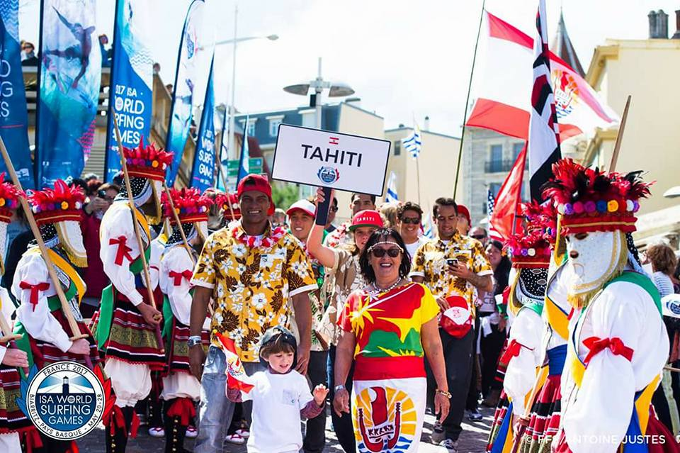 """La délégation """"Tahiti"""" menée par Ingrid Leboucher et Hira Teriinatoofa"""