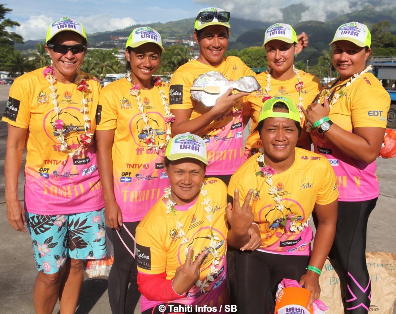 Hinatea Bernardino et une partie du team Teva