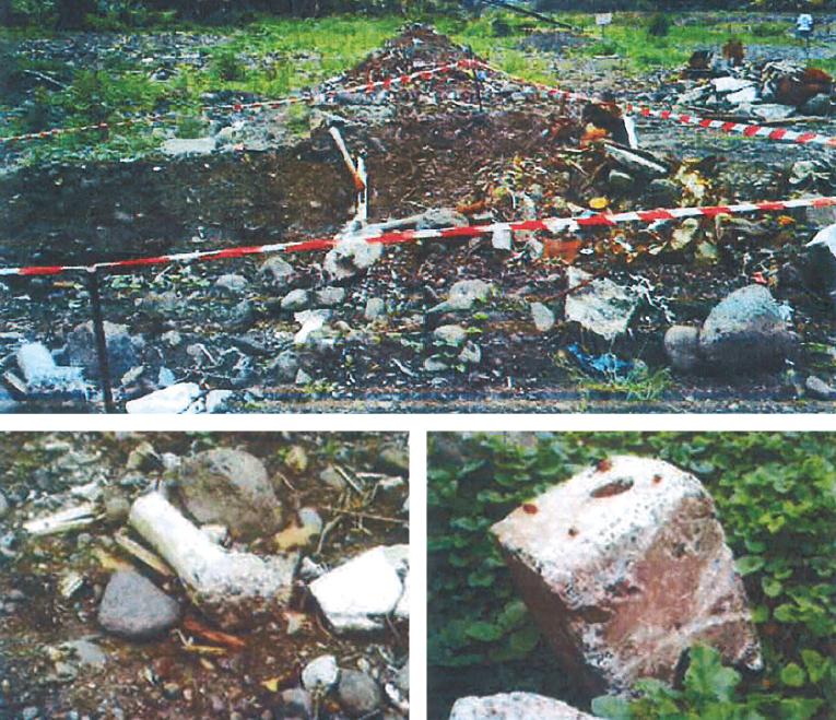 Des déchets toxiques ont été déversés sur ce terrain privé en mars. Deux échantillons ont révélé des tests positifs à l'amiante.