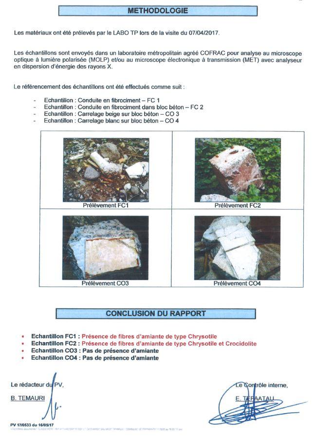 Les conclusions du laboratoire français Eurofins.