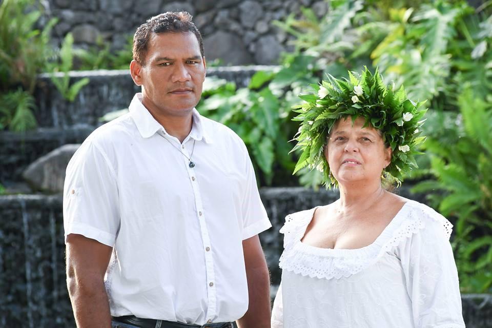 Tauhiti Nena et sa suppléante, Sylvana Klima, sont les candidats du parti Tau Hoturau sur la 1ère circonscription de la Polynésie française.