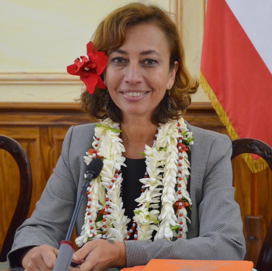 Nicole Sanquer, candidate Tapura Huiraatira sur la 2e circonscription de Polynésie française.