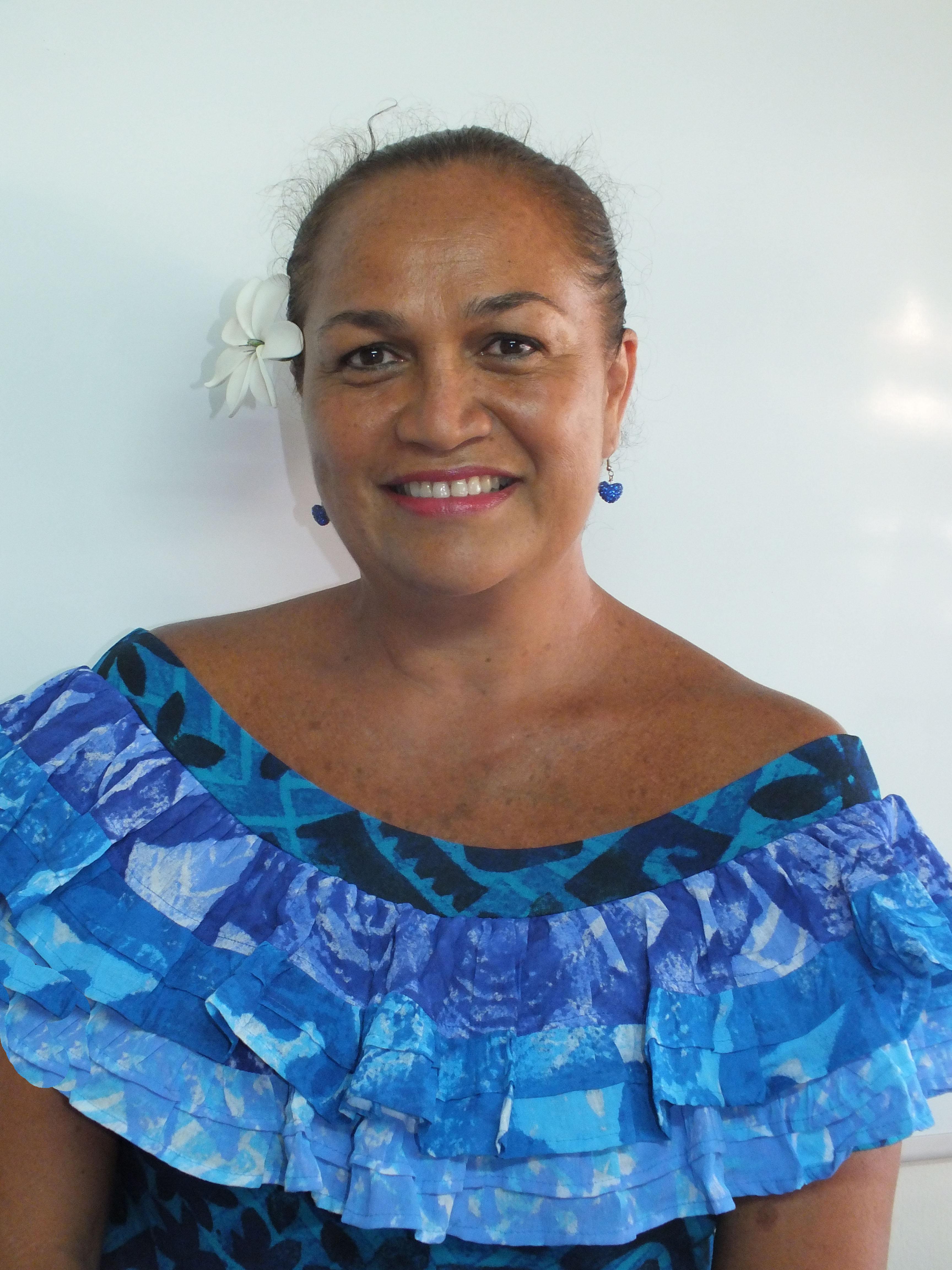 Tina Cross, candidate Tavini Huiraatira sur la 2ème circonscription.