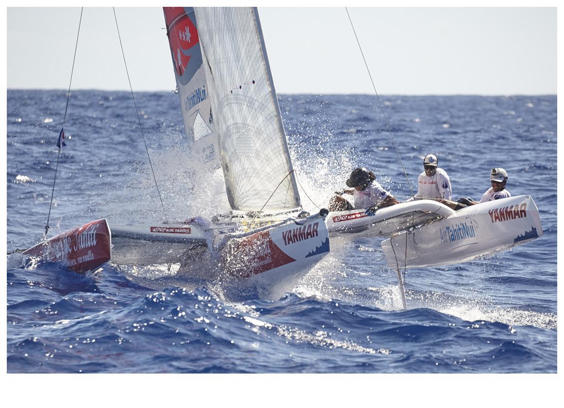 L'équipage de Trésors de Tahiti. Photo : Bertrand Duquenne.