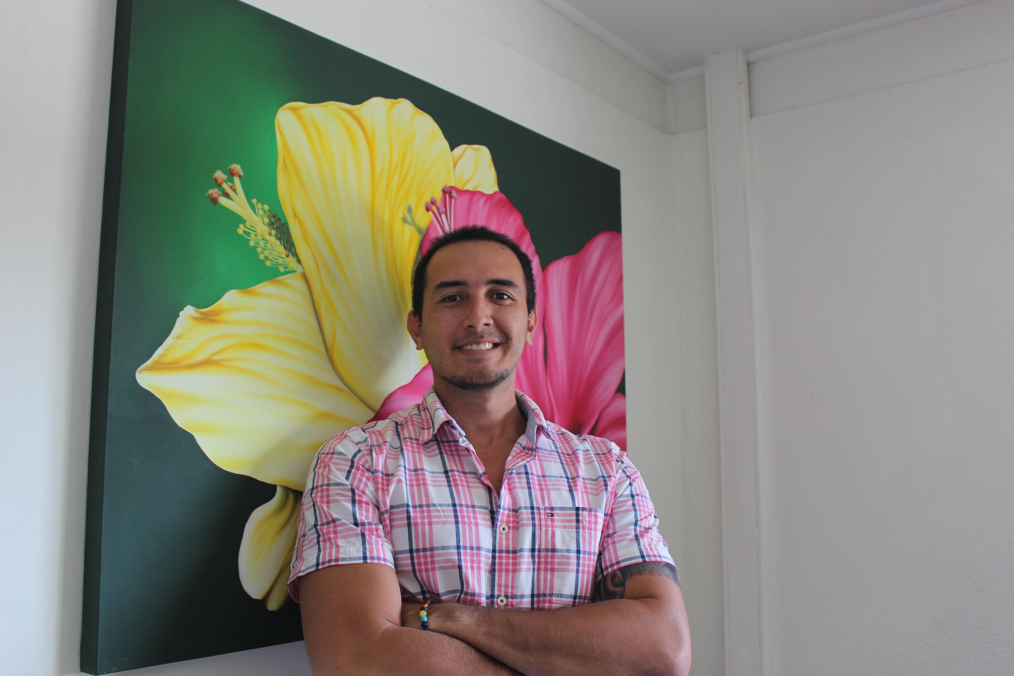Geoffrey Van der Maessen du collectif Nana sac plastique participera au meeting de Green Polynesian le 2 juin.