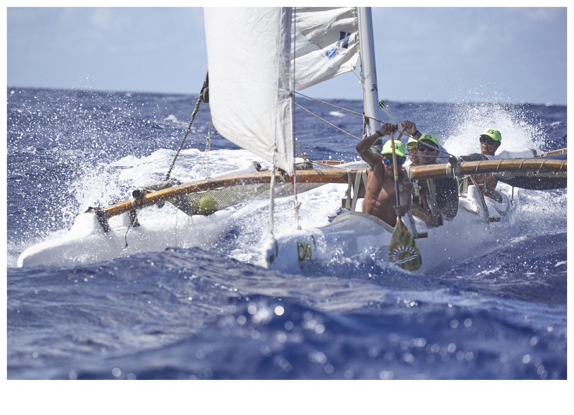 Les pirogues à voile ont réalisé une très belle traversée (photo : Bertrand Duquenne).