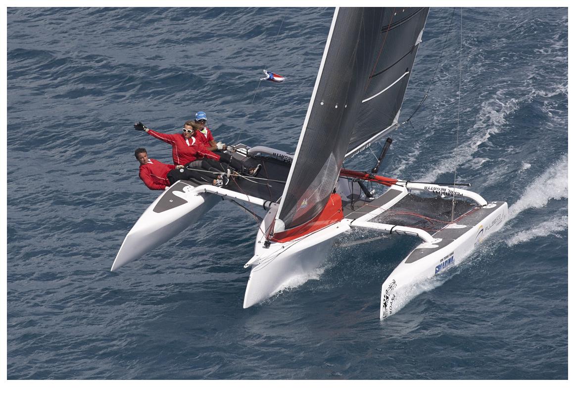 Sail Tahiti sur son Pulse 600. Photo : Bertrand Duquenne