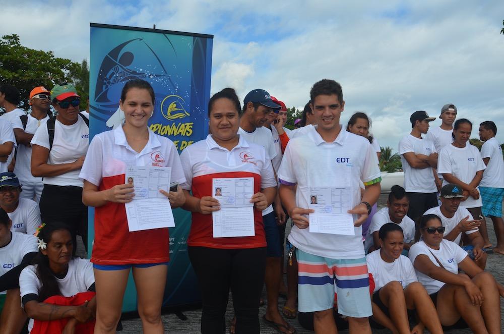 Va'a : quatre volontairesreçoivent le Brevetde Surveillant Aquatique