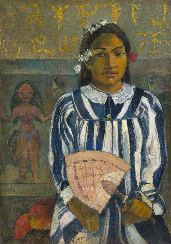 La célèbre toile Merahi-metua-no-Tehamana, de Chicago, sera parmi les œuvres exposées.