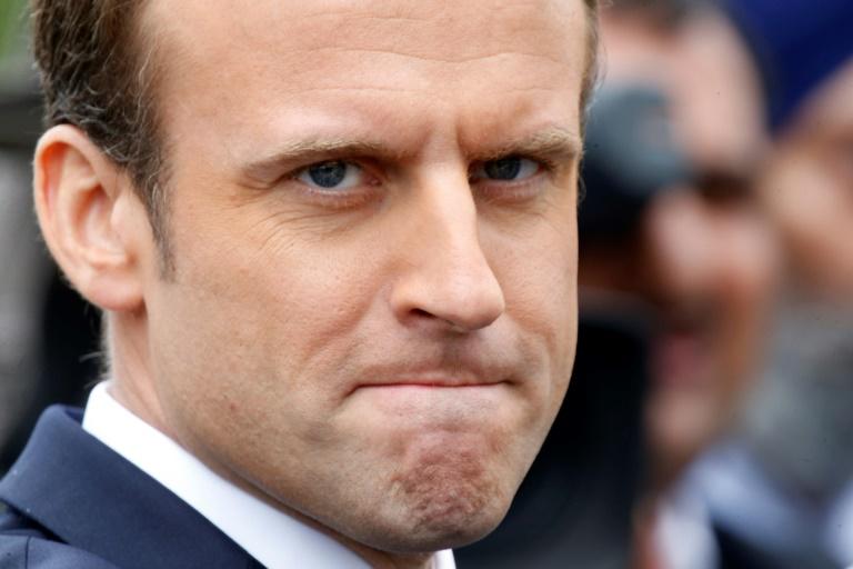 POOL/AFP / CHARLES PLATIAU Le président français Emmanuel Macron à Paris, le 3 juin 2017